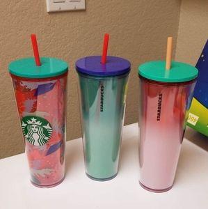 Starbucks summer 3 cups bundle
